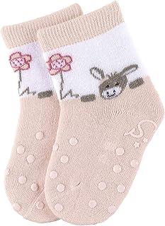 Calcetines antideslizantes ABS con diseño de Chica Emmi, Edad: 6-9 meses, Talla: 18, Rosa