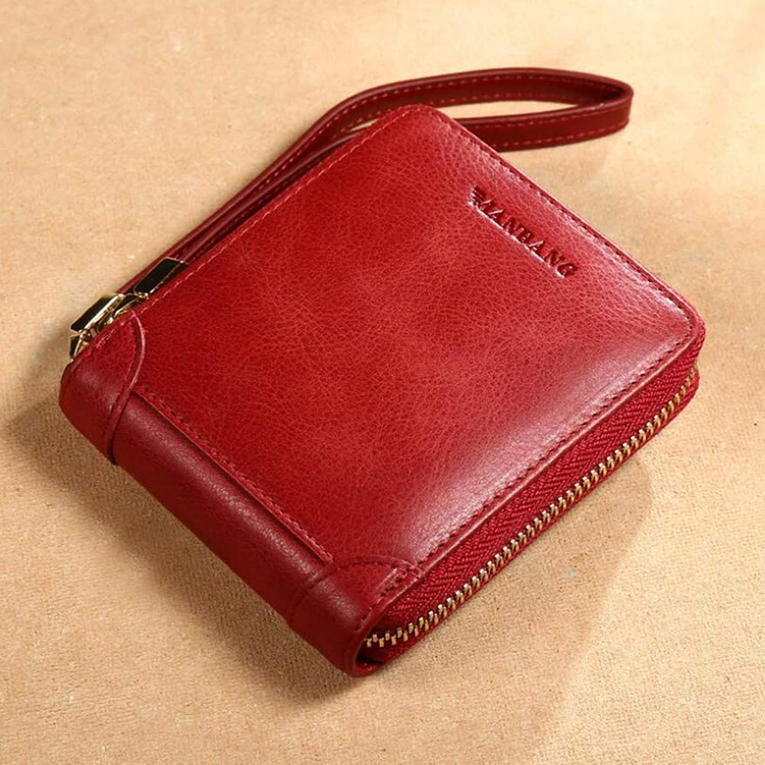 Women's Wallets, MultiFunction Retro Zip Coin Pocket Casual Fashion Card Package Money Clip,A,11.5x2x9.7CM