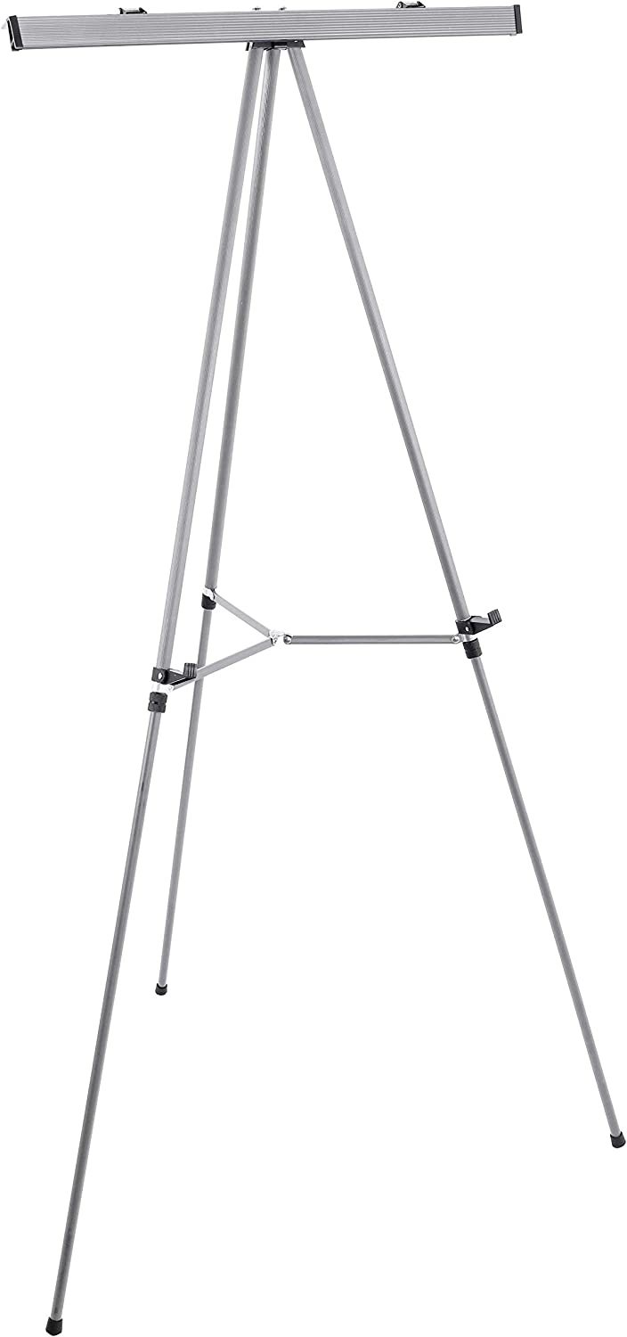 """U.S. Art Supply 66"""" High Classroom Silver Aluminum Flipchart Display Easel and Presentation Stand - Large Adjustable Floor and Tabletop Portable Tripod, Holds 25 lbs - Holds Writing Pads, Poster Board: 0844998179955: Books"""