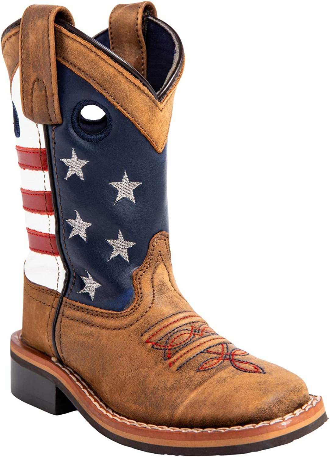 Cody James Boys' USA Flag Western - Wide Popular brand Square 43880 Max 54% OFF Boot Toe