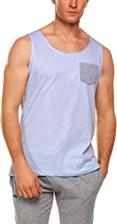 Men's Tank Top Casual Sleeveless Shirt with Pocket for Gym Sport and Training
