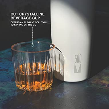 V500-Triple Layer Insulated, Stainless Steel w/Copper, Vacuum Travel Thermos/Bottle w/Cup-Perfect for Wine, Cocktails, Bevera
