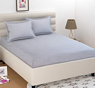 BEVI Microfibre 1 Bedsheet and 2 Pillow Covers Bedsheet Double,Grey