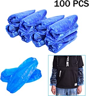 Timoo Plastic Oversleeves Protector, 100 Pcs Disposable Arm/Sleeves Covers Waterproof Protector, 15.7 Inches