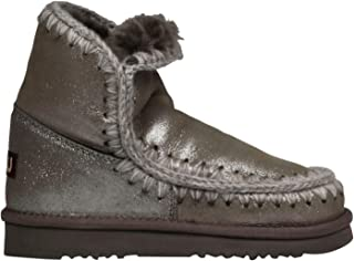 MOU Luxury Fashion Womens FW101001CMGLAP Grey Ankle Boots | Fall Winter 19