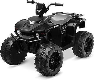 Kidzone 12V Electric Kids Ride-On Car ATV with DIY License Plate, 4 Big Wear Resistant Tires, MP3, 2 Speeds, LED Lights, B...