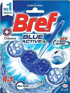 Bref Blue Active Chlorine, Rim Block Toilet Cleaner, 50g