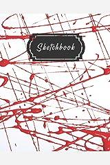 Red Splatter Paint Art Sketchbook Paperback
