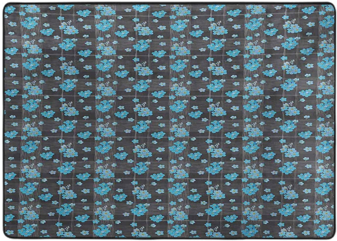 Carpet for Bedroom Forget Me Over item handling Bargain sale Not on Dark Blossoms a Background