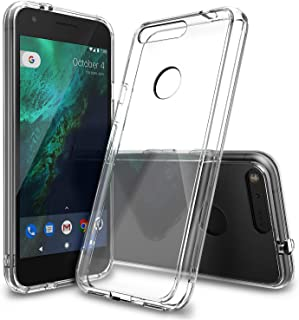 Ringke Fusion Compatible with Google Pixel XL Case Crystal Clear PC Back TPU Bumper Drop Protection, Shock Absorption Technology Raised Bezels Protective Cover for Google Pixel XL 2016 - Clear