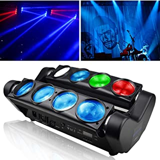 Betopper DJ Stage Light 8x8W Super Bright RGBW Disco LED Moving Head Lighting for Concert,Party,Stage,Restaurant etc.