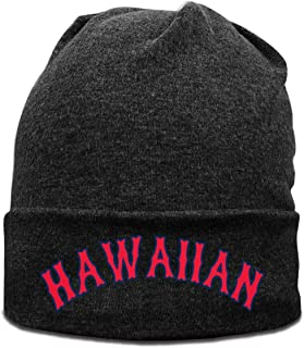 Men /& Women Hawaiian Palm Tree and Sea Turtle Outdoor Stretch Knit Beanies Hat Soft Winter Knit Caps