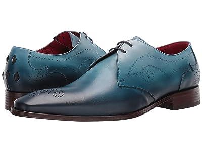 Jeffery-West Scarface Hand Burnished Lace Shoe (Blue) Men