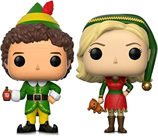 Funko Pop Movies Elf Buddy and Jovie Elf Outfit Action Figures Toys (2 Items included)