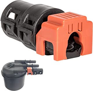 6.7L Powerstroke Fuel Filter Return Line Connector Fitting For 2017~2020 Ford (3846) HC3Z-9A564-A (Black&Orange)