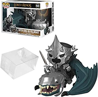 Funko Pop! Rides: Lord of The Rings - Witch King with Fellbeast Bundle with 1 PopShield Pop Box Protector