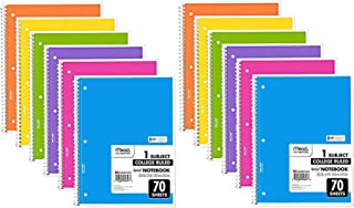 $28 » Mead Spiral Notebook, 12 Pack of 1-Subject College Ruled Spiral Bound Notebooks, Cute school Notebooks Pantone Colors, 70 Pages