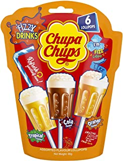 5 Pack of Chupa Chups Assorted Flavour Lollipops 6 Pack