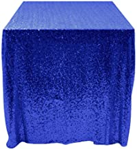 50''x50'' Square Royal Blue Sequin Tablecloth Select Your Color & Size Can Be Available ! Sequin Overlays, Runners, Gatsby Wedding, Glam Wedding Decor, Vintage Weddings