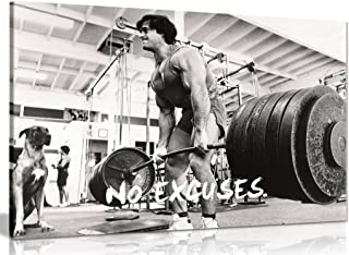 Bodybuilding Fitness Motivation Motivational Canvas Wall Art Picture Print (12x8in)