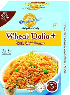 OrganoNutri Wheat Dalia Plus with Soy Power (400 Gms) Pack of 2 Boxes