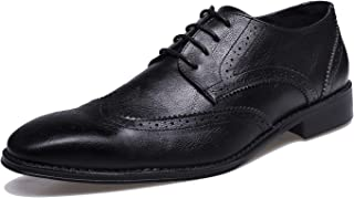 Men's Wingtip Dress Shoes Brogue Derby Oxford Shoes Formal Wedding