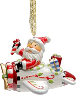 Best santa in airplane ornament Reviews