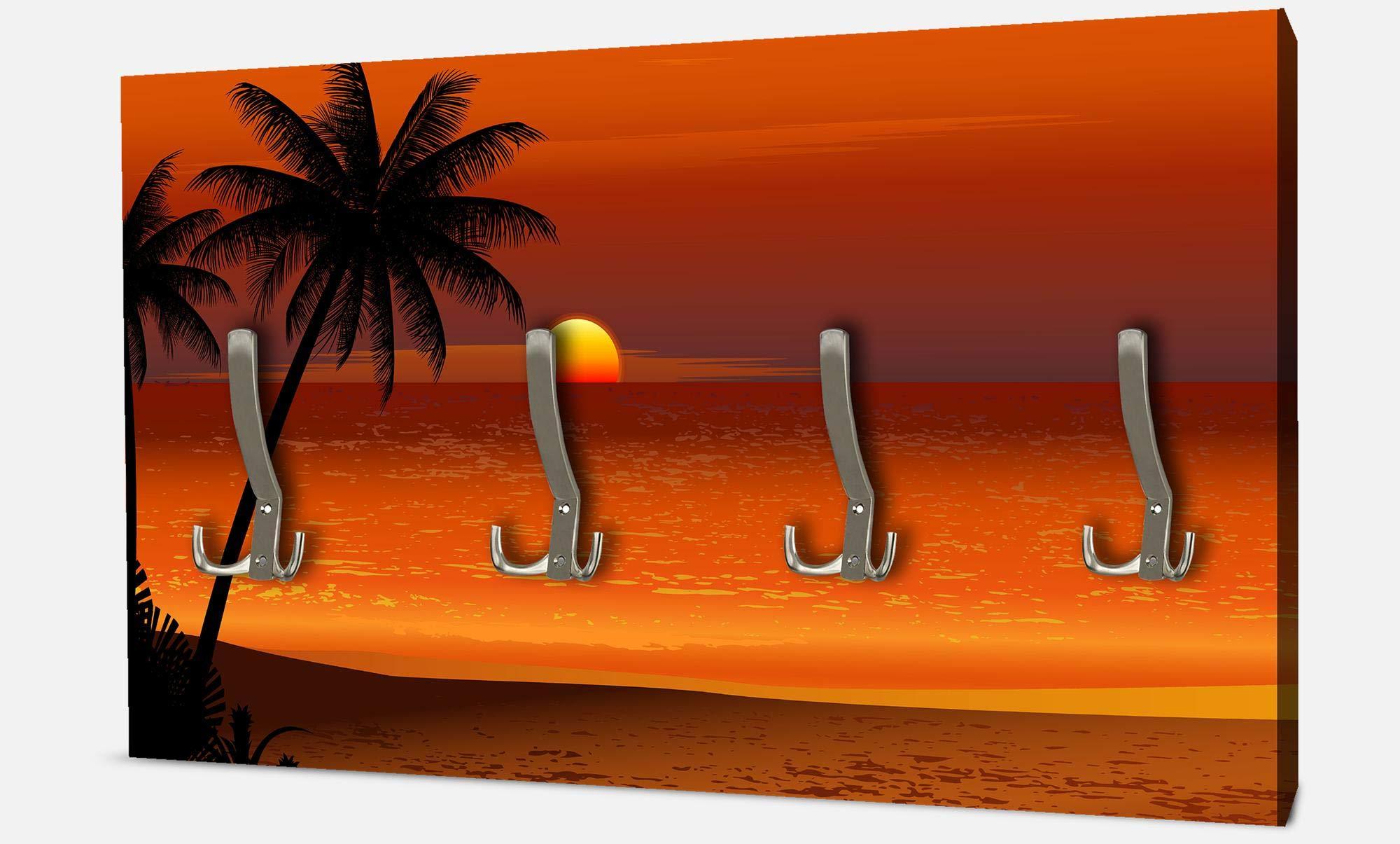 MARE E TRAMONTI L12 ogni pannello ha sul retro 2 ganci per poterlo appendere Dimensioni cm Appendiabito attaccapanni moderno su pannelli 60 x 90 Dimensione dei pannelli cm.30x50-30x50-30x50