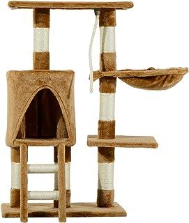 Pawhut Árbol para Gatos Rascador con Nido Plataforma Caseta