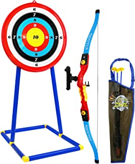 Kiddie Play Bow and Arrow for Kids Toy Archery Set with Target and Quiver Kids Toys Age 5, 6, 7, 8, 9 Years Old Boys and Girls