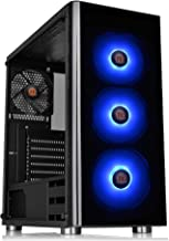 Thermaltake V200 Tempered Glass RGB Edition 12V MB Sync Capable ATX Mid-Tower Chassis with 3 120mm 12V RGB Fan + 1 Black 1...