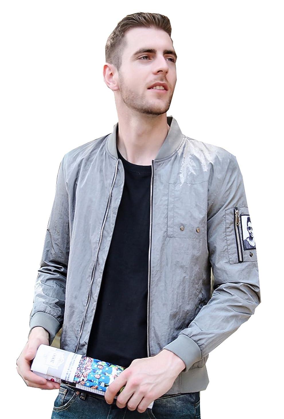 UNbox-HT Mens Casual Jacket Spring Design Bomber Veste Homme Military Outwear