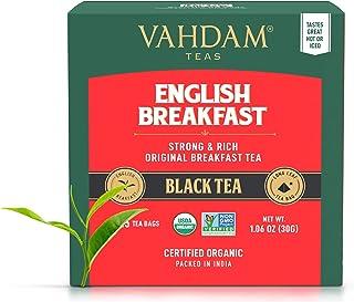 VAHDAM, English Breakfast Tea - 15 TeaBags (Set of 2)   HIGH ENERGY & CAFFEINE - Healthy Coffee Replacement...