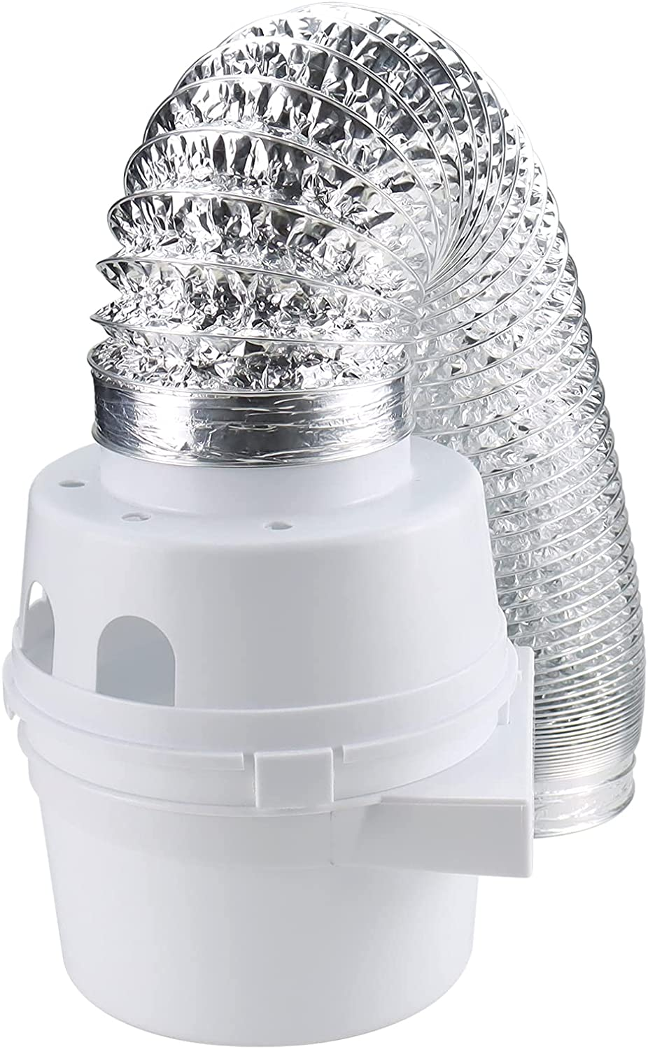 Beaquicy TDIDVKZW Indoor Dryer Vent Kit with 4-Inch by 5-Foot Proflex Duct, 4 Inch