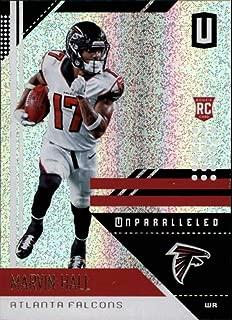 2018 Panini Unparallel NFL #12 Marvin Hall Atlanta Falcons RC Rookie Panini Football Trading Card