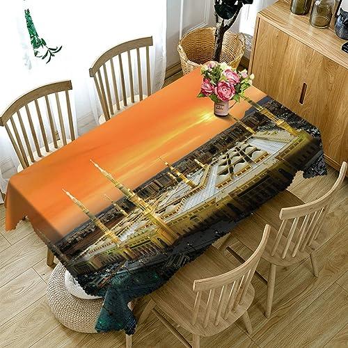 Qiao jin Tischdecke Rechteckige Tischdecke - 3D personalisierte Tischdecke PG01068 - umweltfreundlich und geschmacklos - Digitaldruck wasserdicht (Größe   Square -228cm228cm)