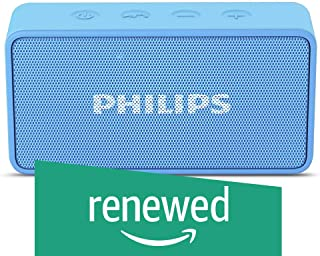 (Renewed) Philips BT64A Portable Bluetooth Speakers (Sky Blue)