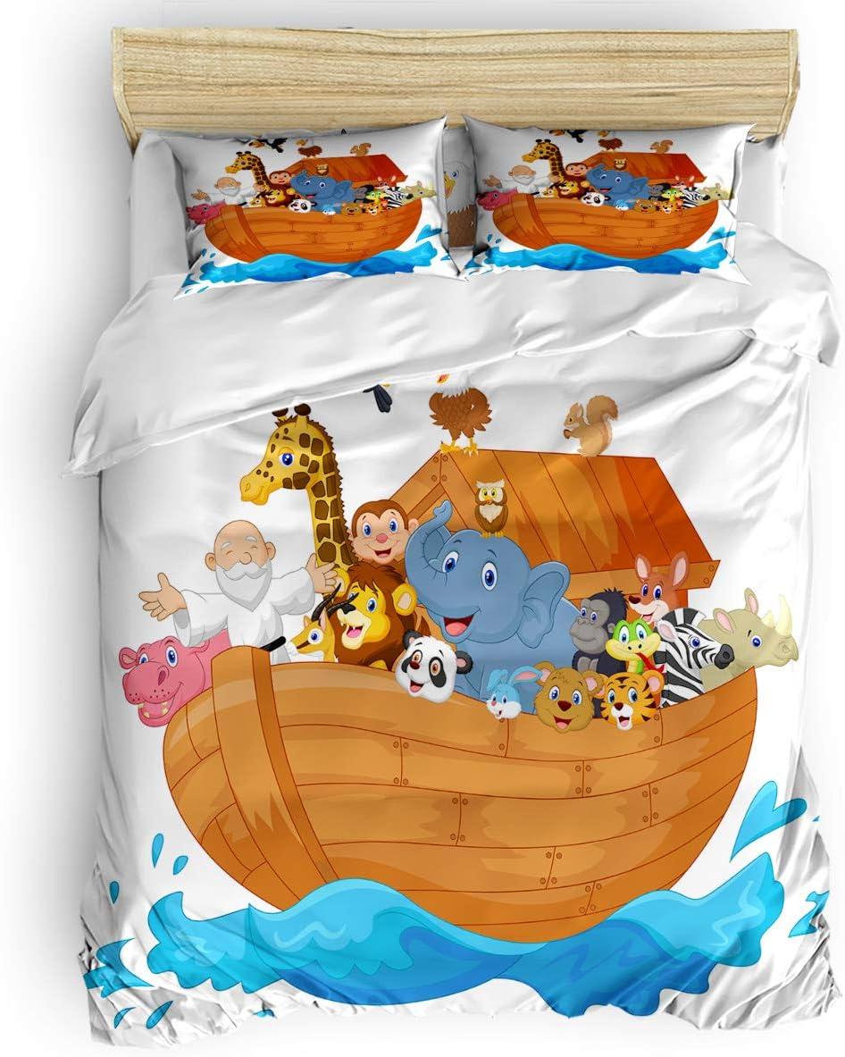 New Orleans High quality Mall Verchant Full Size Bedding Duvet Cover 4 Ark Set Lu Piece Noah's