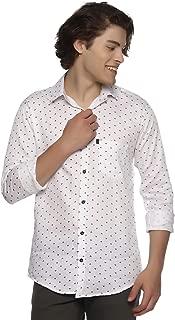 LEVIZO Men's 100% Cotton Designer Printed Full Sleeves Regular Fit Shirt for Men