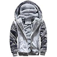 Men Coats And Jackets Winter Sale Warm Fleece Hood Zipper Sweater Outwear Sweatshirts For Men By...