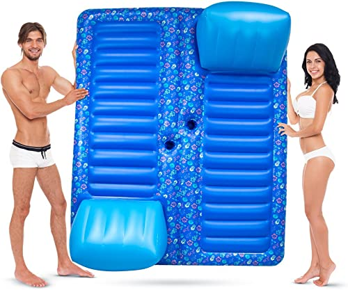 diseño simple y generoso Face to Face 2-Person Pool Lounge Float with Cup Holders Holders Holders by Sol Coastal by Sol Coastal  elige tu favorito