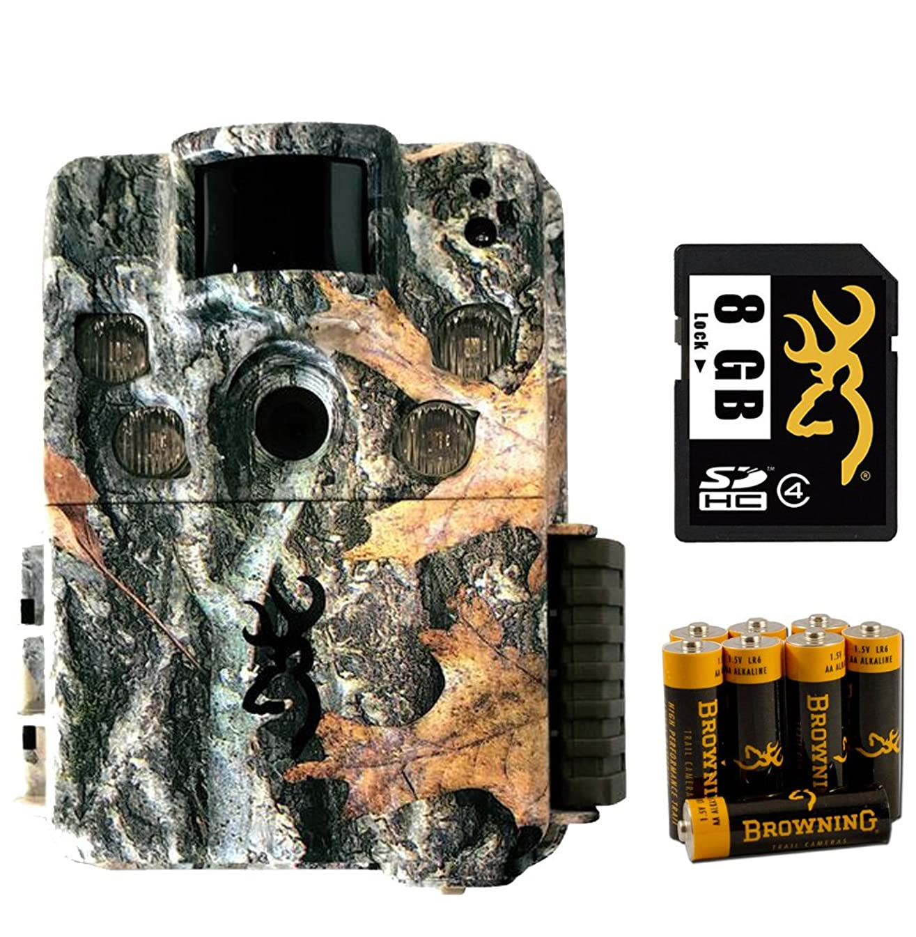 Browning Trail Cameras 5HDP Bundle Trail 8GB SD Card and AA Batteries-3 Items