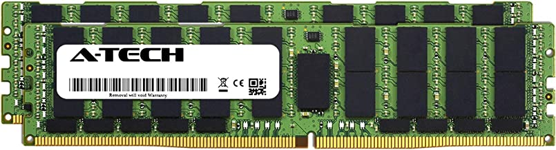 A-Tech 128GB Kit (2 x 64GB) for Dell PowerEdge R740 - DDR4 PC4-21300 2666Mhz ECC Load Reduced LRDIMM 4Rx4 - Server Specific Memory Ram (AT316645SRV-X2L2)