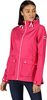 Regatta Women's Coastal Waterproof Hooded Outdoor Lifestyle Jacket Shell, Cabaret, 18