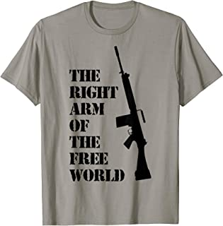 FN FAL The right arm of the free world t-shirt dark version