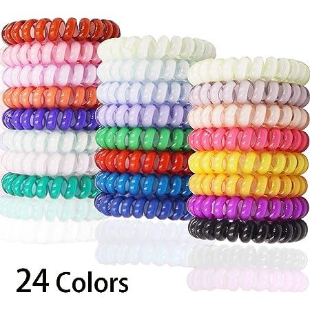 Hair Tie,10PcsX2 Coil Spiral Hair Coil Set CLEAR