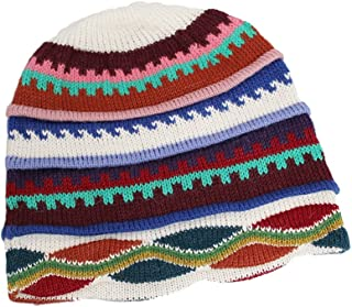 ビーニー帽子キャップ幾何ベビーアルパカペルー製マルチカラー