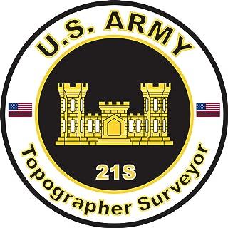 Military Vet Shop Magnet U.S. Army MOS 21S Topographer Surveyor Vinyl Magnet Car Fridge Locker Metal Decal 3.8