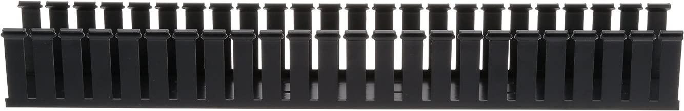 Panduit G4X4BL6 Type G Wide Slot Wiring Duct, PVC, Black