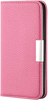 Leather Flip Case Fit for Samsung Galaxy S10, pink Wallet Cover for Samsung Galaxy S10